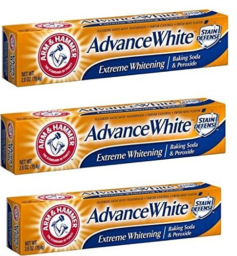(Arm & Hammer Advance White Extreme Whitening Toothpaste 2.8 Oz Travel Size (Pack of 3))