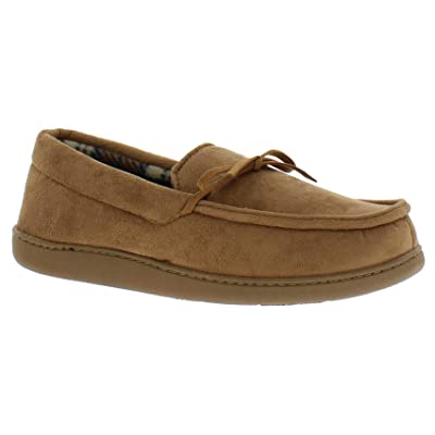 Van Heusen Mens Soft Flannel Lined Slipper Mocassins | Slippers