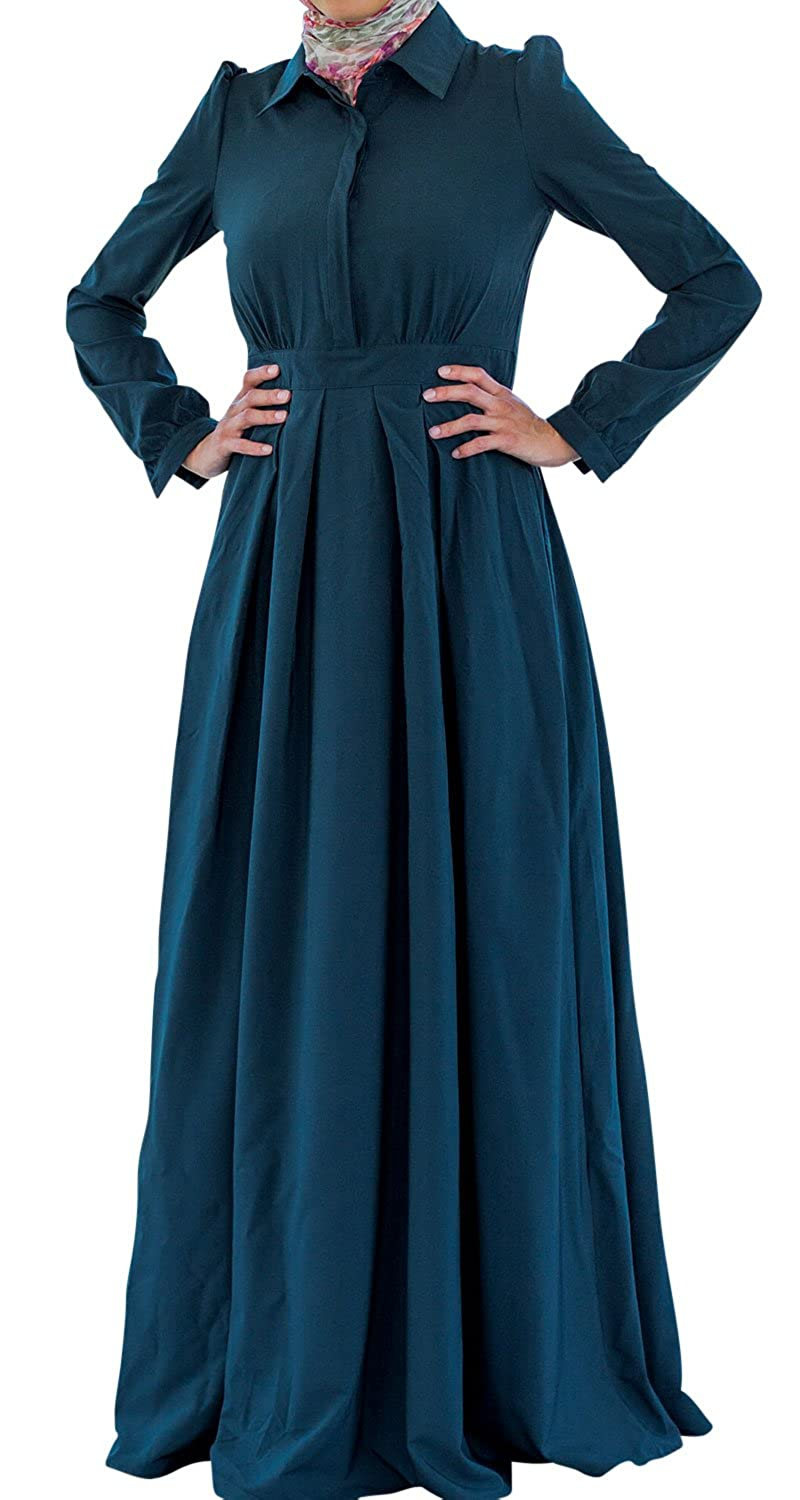 1900s, 1910s, WW1, Titanic Costumes Abaya Long Sleeve Trendy Lattice Maxi Dress by Urban Modesty $49.99 AT vintagedancer.com