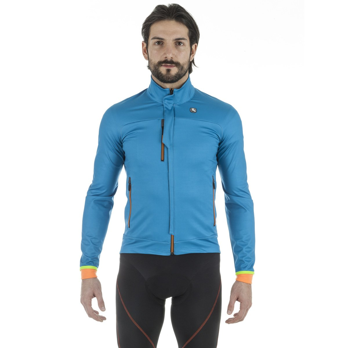 Giordana sosta Winter Jacket – Men 's Medium アクア B01MEEXPFH