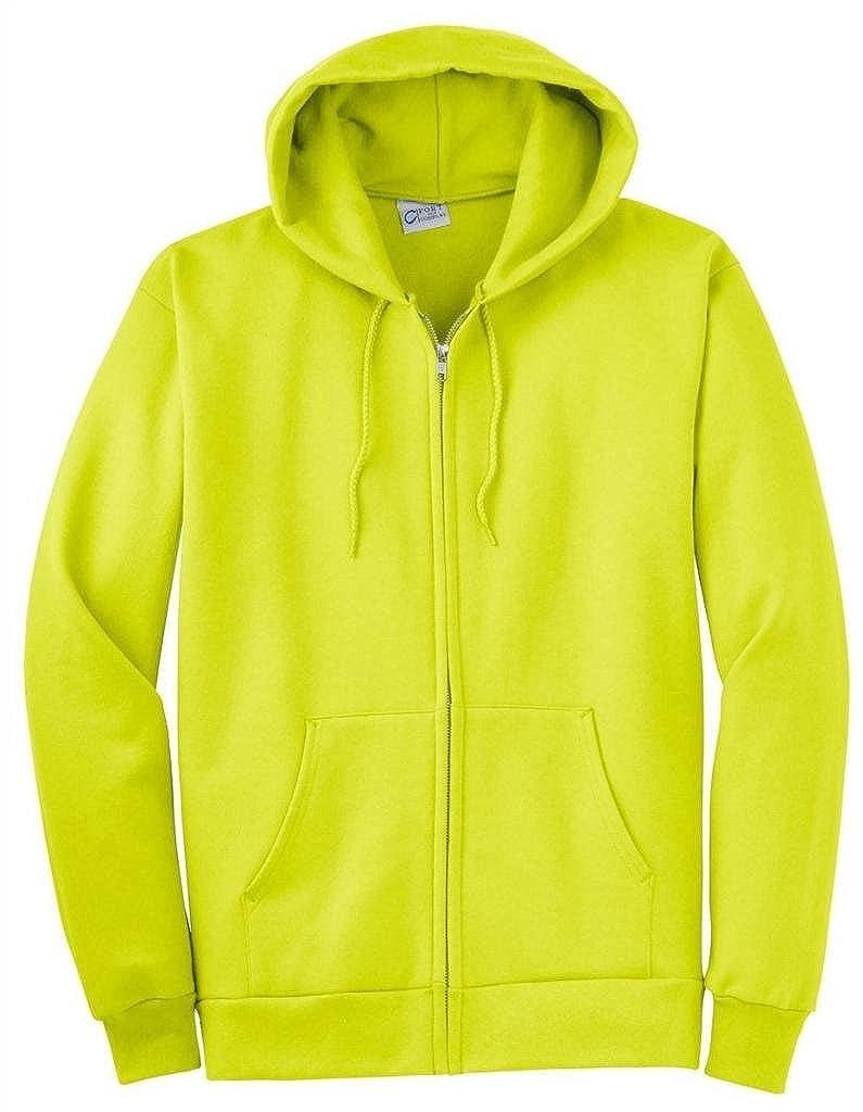 Safety vert US XXXL grand Port & Company pour Homme Big et Haut zippé Sweat à Capuche