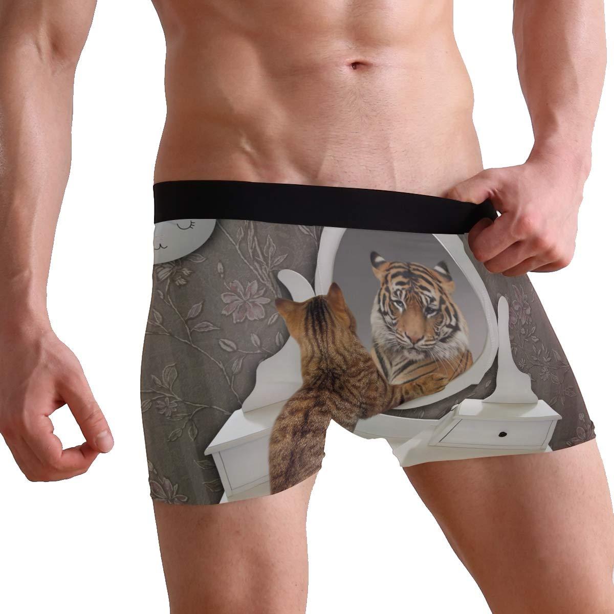 Cat Tiger Boxer Briefs Mens Underwear Pack Seamless Comfort Soft