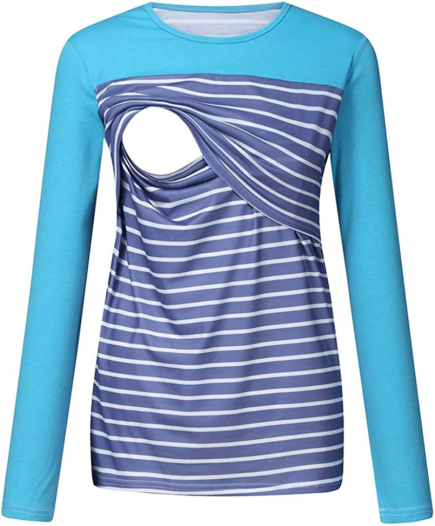 HOSOME Women Pregnant Strappy Vest Double Layer Breastfeeding Nursing Tops Maternity Breastfeeding T-Shirt Blouse
