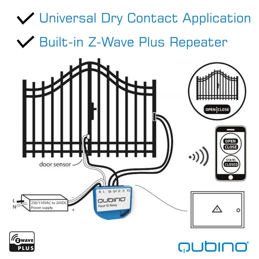 qubino z wave plus universal relay with dry contact switch zmnhnd3 coleman  air conditioning wiring diagram dry contact wiring diagram 24v