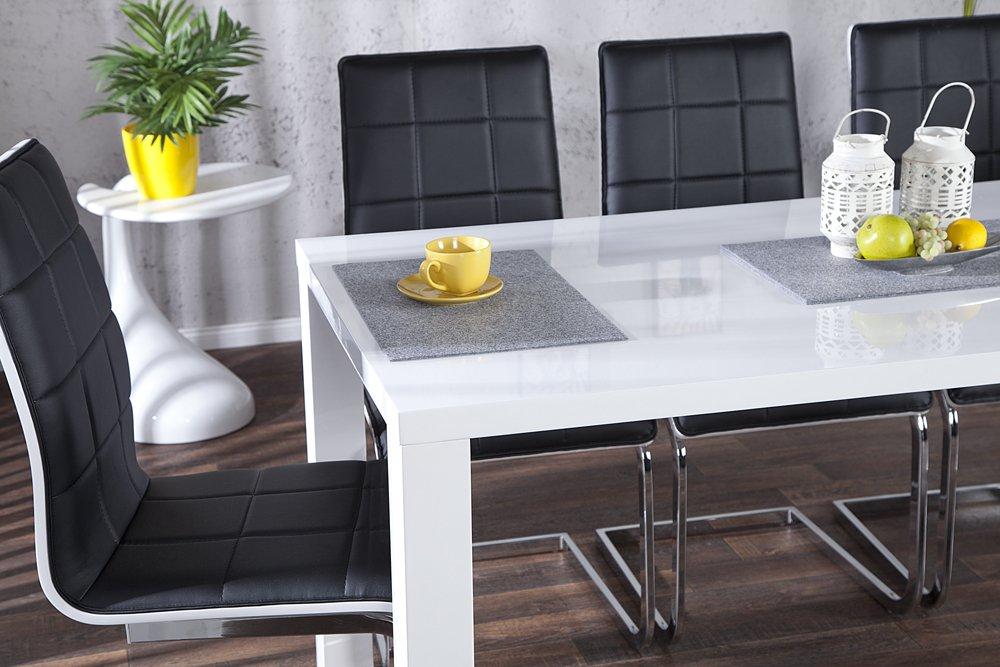 Design Esstisch Lucente weiss High Gloss 160cm Küchentisch weiß ...