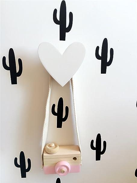 yue-3 pcs ganchos adhesiva ganchos Perchero decoración pared habitación niños amor