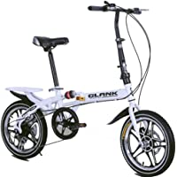 QXYAmj Foldable Bicycle 10 Seconds Folding Adult Children Women and Man Outdoor Sports Bicycle,Variable 6 Speeds (Color…