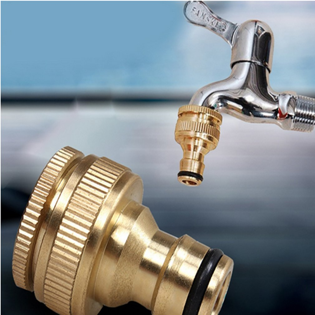 Amazon.com: Yesido. 3/4 External Thread Brass Faucet Adapter ...