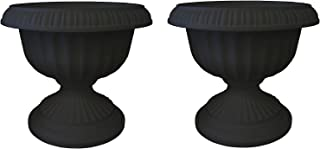 """product image for Bloem Grecian Urn Planter, 18"""", Black (Pack of 2)"""