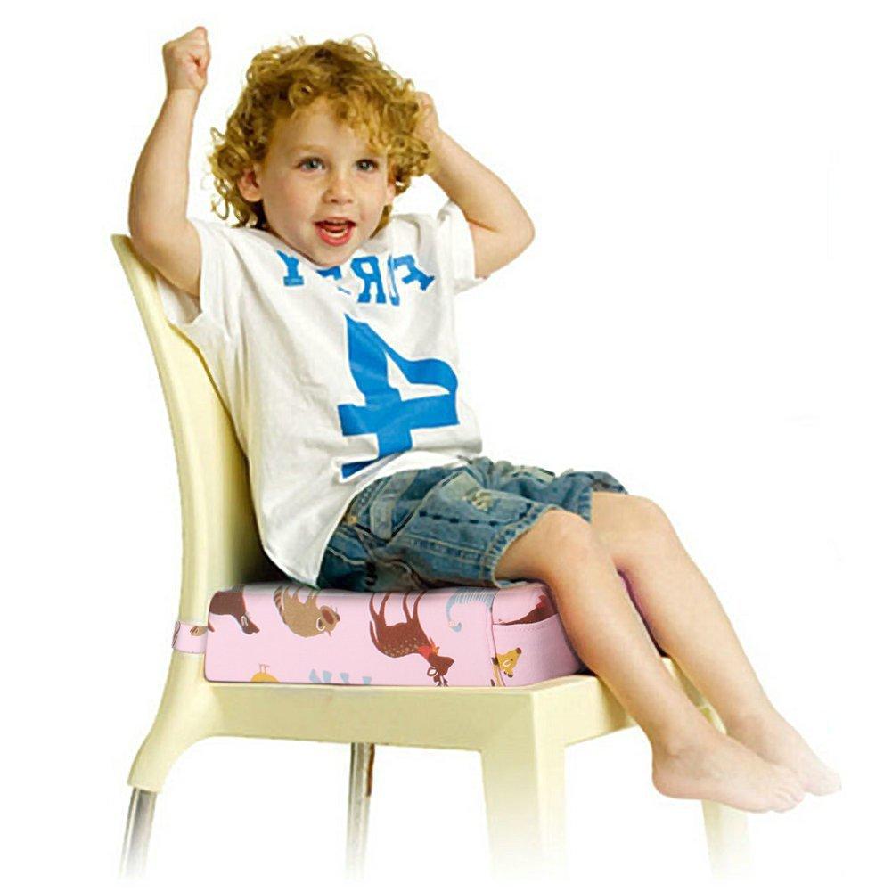 Rosa Sitzerh/öhung Sterne Muster Tragbare Sitzerh/öhung mit Seitentasche f/ür Kinder