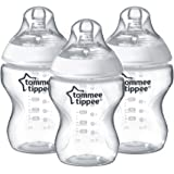 Tommee Tippee Closer to Nature Baby Feeding Bottles – 9 Ounces, Clear, 3 Count