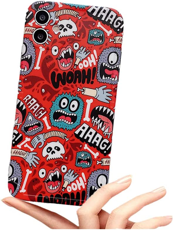 Kukukecase for iPhone 11 Soft Case, Fashion Cartoon Cute Monster Shockproof Flexible TPU Protective Non-Slip Case for iPhone11 6.1 Inch (YJ-SHOU)