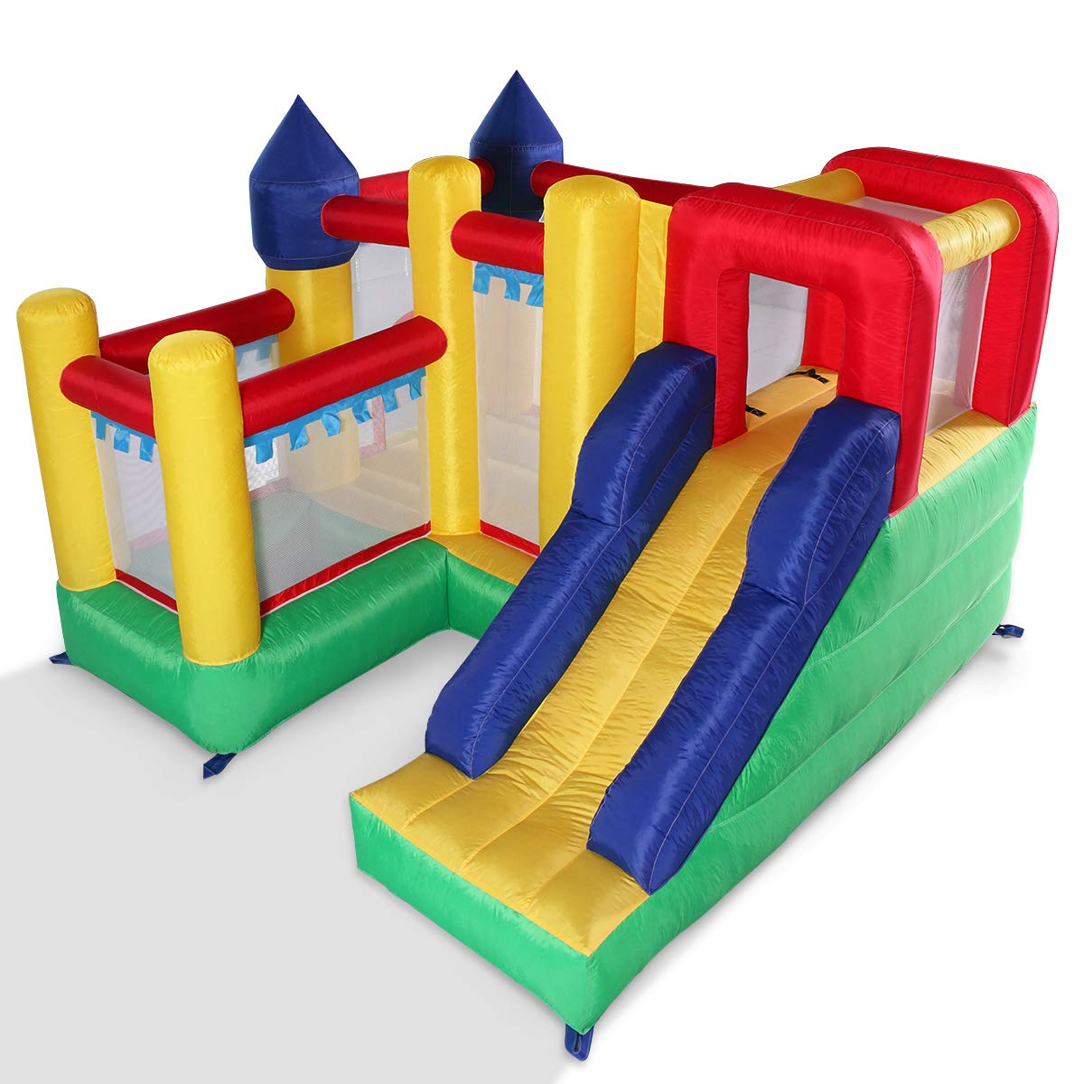 Kids Inflatable Bounce House Castle Jumper Slide Moonwalk Without Blower by BWM.Co (Image #3)