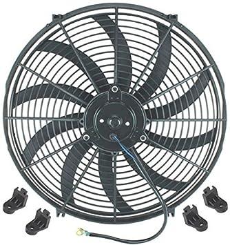 American Volt Dual 12 Inch Electric Fans 12 Volt Auto Radiator Cooling Fan 80w Motor 1400 Cfm