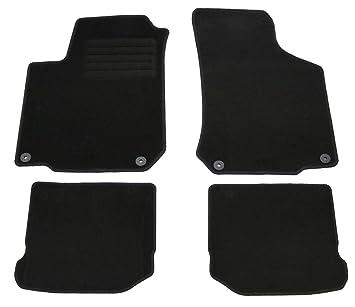 AD Tuning GmbH hg3823 Terciopelo Ajuste Soporte, Negro Fã ¼ r Juego de Alfombrillas para Seat Leon 1 M, Mod. BJ. 3/00 – 8/05