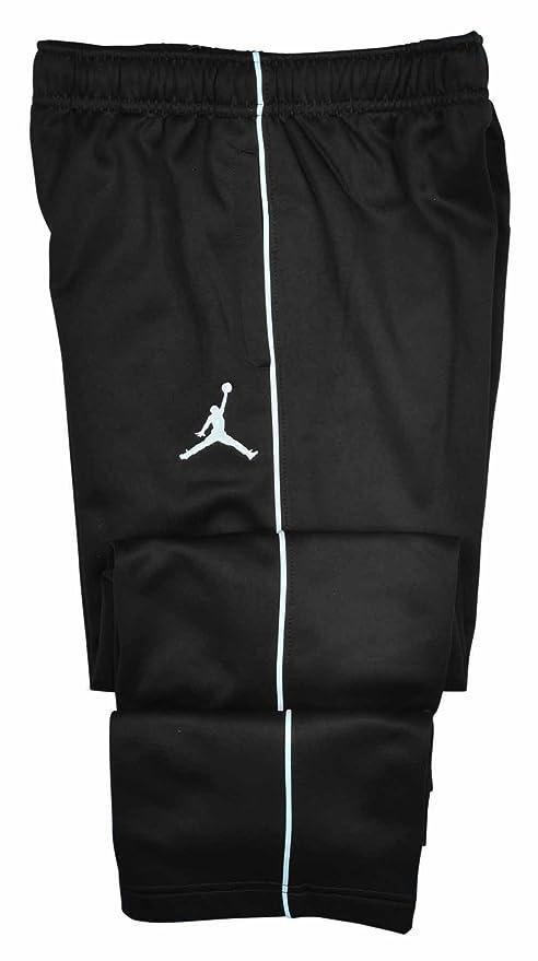 0659f5e435b8 NIKE NIKE Jordan Big Boys (8-20) Therma-Fit Jumpman Track Pants-Black White-Large   Amazon.in  Sports