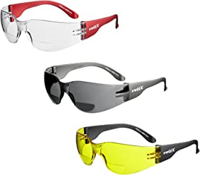 voltX 'GRAFTER' Bifocal Lightweight Industrial Reading Safety Glasses, CE EN166f certified/Cycling Safety Glasses x 3