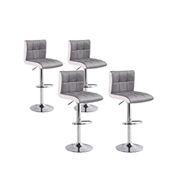 a822ff81cf259f INTENSEDECO Lot de 4 tabourets de Bar Magic Gris  Amazon.fr  Cuisine ...