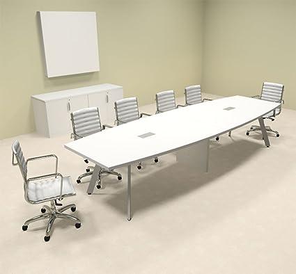 Amazoncom Modern Boat Shaped Feet Conference Table OFCON - 12 foot boat shaped conference table