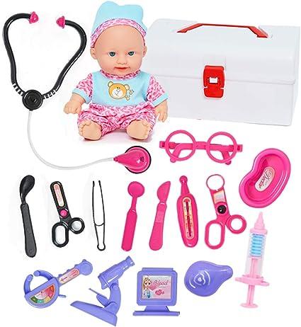 Amazon.com: Kit de médico para niños con muñeca y juguete de ...