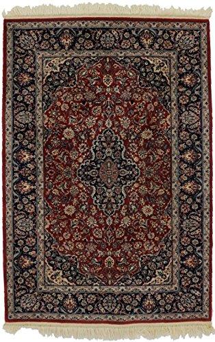 Admin Rugs Excellent Wool & Silk Handmade Kashan Chinese Rug Oriental Area Carpet 4X6'6 (Kashan Silk Rug)