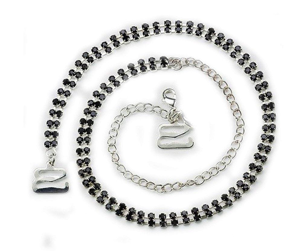 Correas del sujetador doble filas Diamante Negro - par de piedras: Amazon.es: Joyería