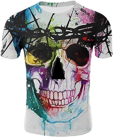 Sylar Camisetas Estampado 3D para Hombre Camiseta Calavera ...