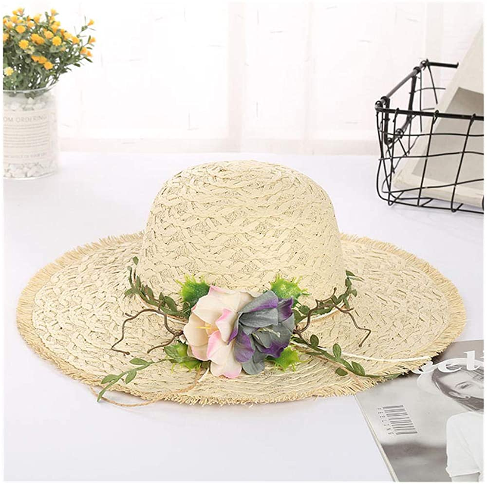 6544437964 ZHANGHUIQIN Breathable Soft Women's Fashion Casual Straw Holiday Sunscreen Beach hat 61qCPpIFoKL
