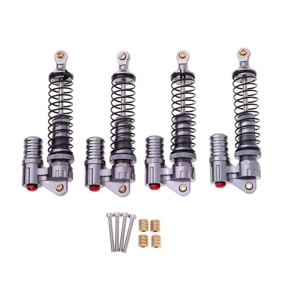 Homyl 4pcs 100mm Metal Amortiguadores para 1//10 SCX10 D90 Hpi Traxxas Hsp