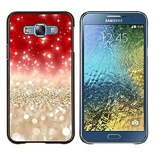 Stuss Case / Funda Carcasa protectora - Perlas de Navidad brillante de Bling - Samsung Galaxy E7 E700