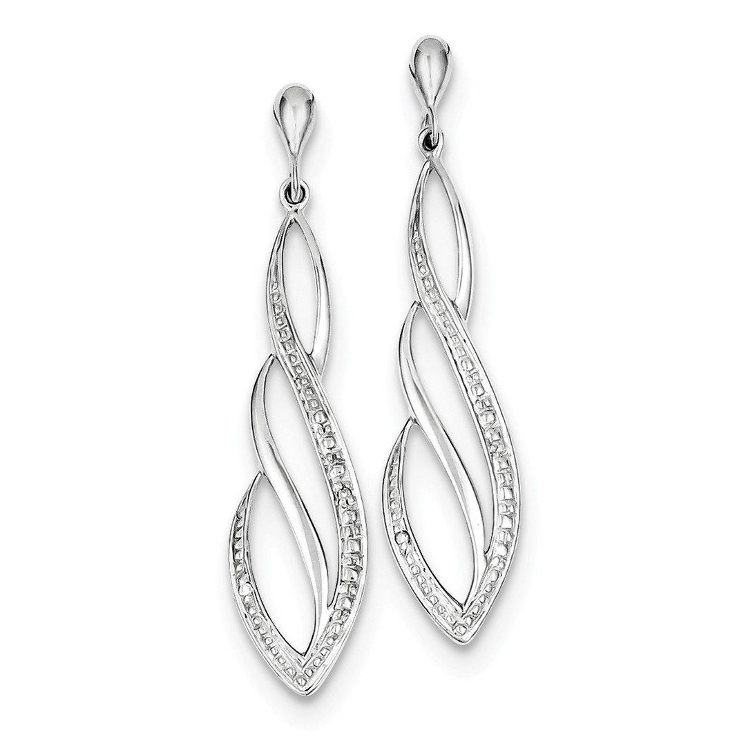 ICE CARATS 925 Sterling Silver Diamond Drop Dangle Chandelier Post Stud Earrings Fine Jewelry Gift Set For Women Heart