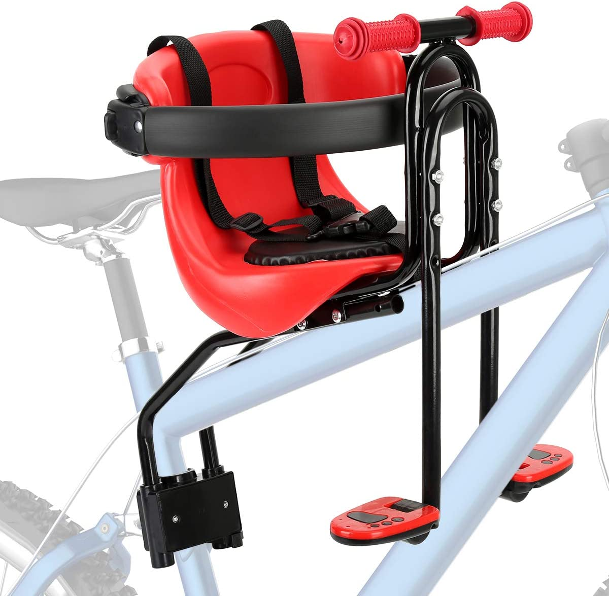 Kids Front Bike Seat Child Bicycle Safety Chair Baby Carrier Saddle w// Handrail
