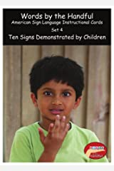 American Sign Language / Baby Sign Language Cards - Ten Signs Demonstrated By Children. Set 4 Cards