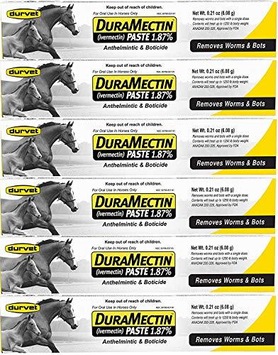 - Durvet Duramectin Equine Wormer Paste - 6 Tubes