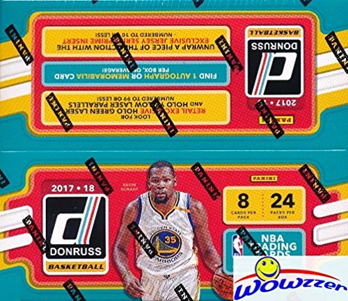 2017/18 Panini Donruss NBA Basketball MASSIVE 24 Pack Factory Sealed Retail Box with AUTOGRAPH or MEMORABILIA & 192 Cards! Look for RC's & Autographs of Jayson Tatum, Lonzo, Kyle Kuzma & More! WOWZZER ()