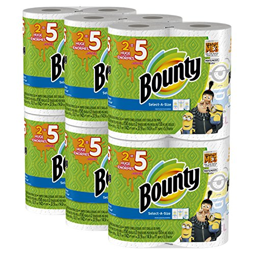 Price comparison product image Bounty Despicable Me 3 Select-A-Size Paper Towels with Minion Prints,  Huge Roll,  12 Count