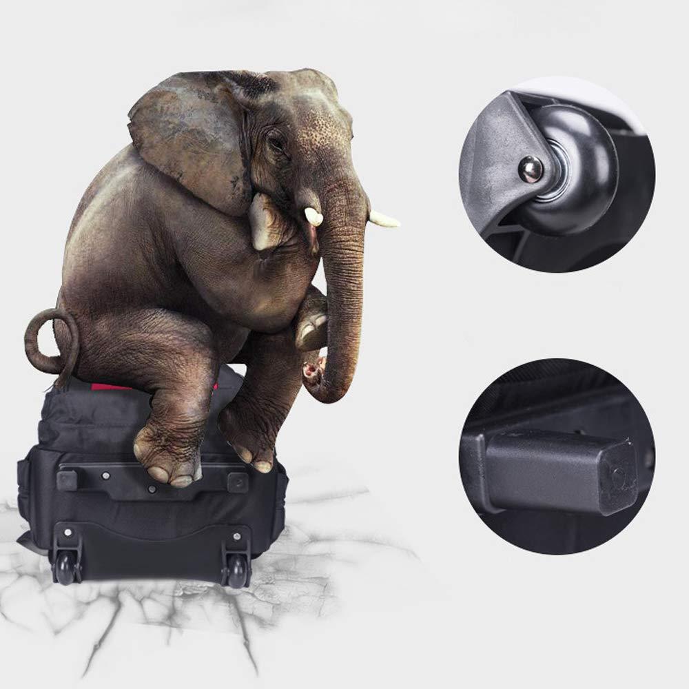 Shoulder Trolley Bag Large Capacity Trolley Bag Men and Women School Bag Rolling Wheel Backpack Suitable for Camping Vacation DWhui Trolley Backpack