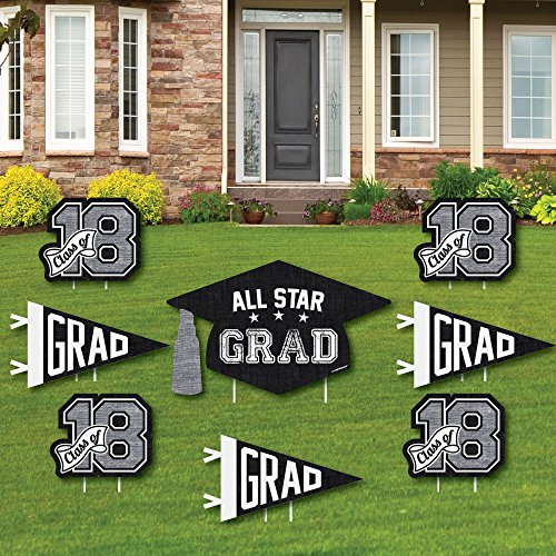 Big Dot of Happiness All Star Grad - Yard Sign & Outdoor Law