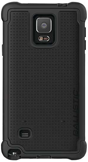 Ballistic Tough Jacket Case for Samsung Galaxy Note 4 - Retail Packaging -  Black