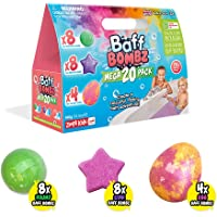 20 x Bath Bombs Mega Pack from Zimpli Kids, Kid Bath Fizzers, Children's Value Pack, Bath Toy Gift Set