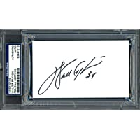 $131 » Walter Payton Autographed 3x5 Index Card Chicago Bears PSA/DNA Stock #64589 - NFL Cut Signatures