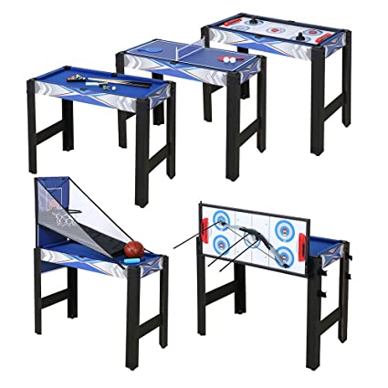 Exceptionnel Funmall 5 In 1 Multi Game Table 5 Combination Game Pool Basketball Table  Tennis Hockey Table