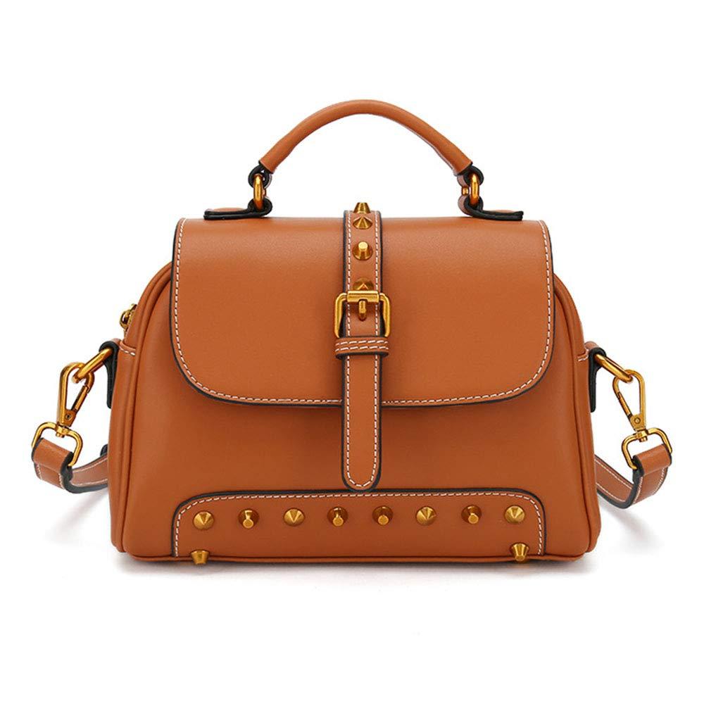 Claret  IYSI Sac D'épaule Rivet High Sense Genuine cuir imperméable Suitable for femme Work Shopping voyage Etc,Claret