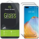 (2 Pack) Dmax Armor for Huawei P40 Pro / P40 Pro Plus Tempered Glass Screen Protector, (Full Screen Coverage) (3D Curved…