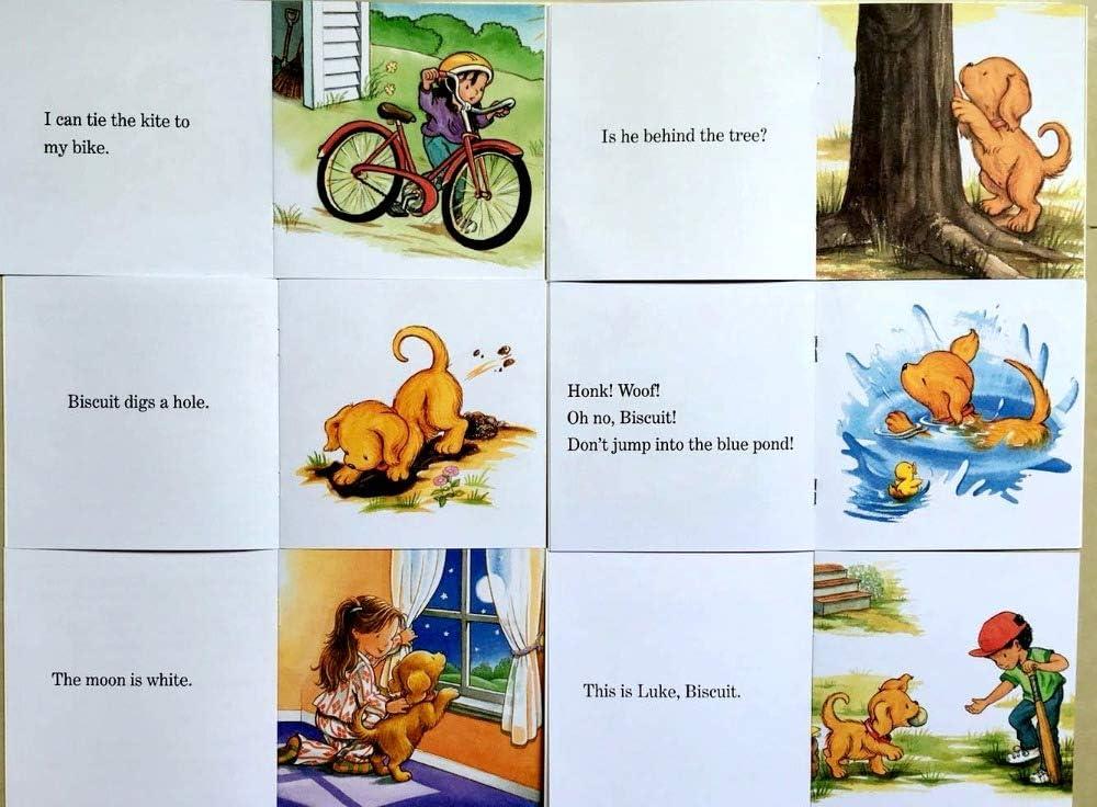 24 Libri//Set Biscuit Serie Foniche Inglese Foto Libri Posso leggere Bambini Storia Libro Primo Educazione Tasca Libro di Lettura