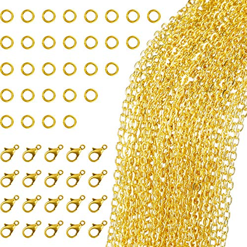 /… Angel Malone /® 3m x 3mm GOLD Plated Cross Chain Jewellery Making Findings