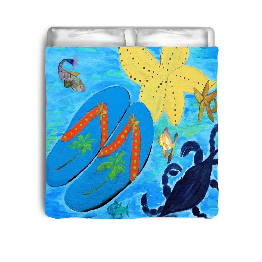 Beach Flip Flops Art Bed Comforter (Toddler 42x58)
