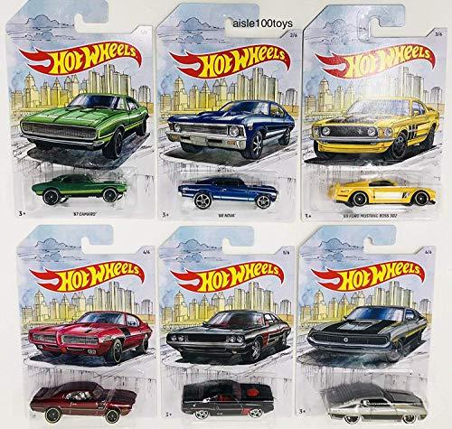 Detroit MUscle Hot Wheels Exclusive 6 Car Set