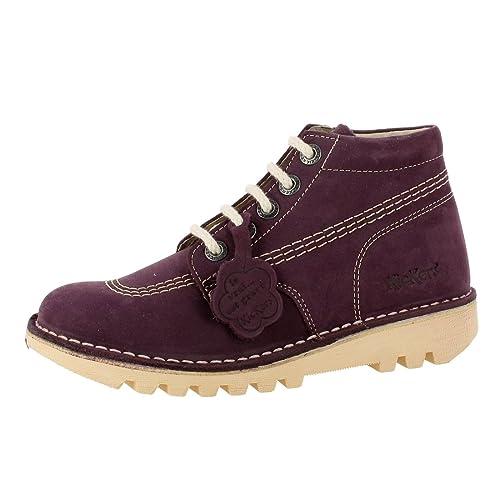 reputable site c38b3 b9325 morado Mujer Kickers Zapatos Morado 38 Botas Para Y es Amazon 7UrfnIUx