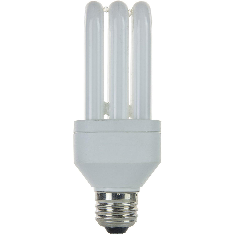 Sunlite SLS15//65K//CD1 SLS Triple Tube 15 Watt Energy Saving CFL Light Bulb Medium Base Daylight Carded 1 Pack